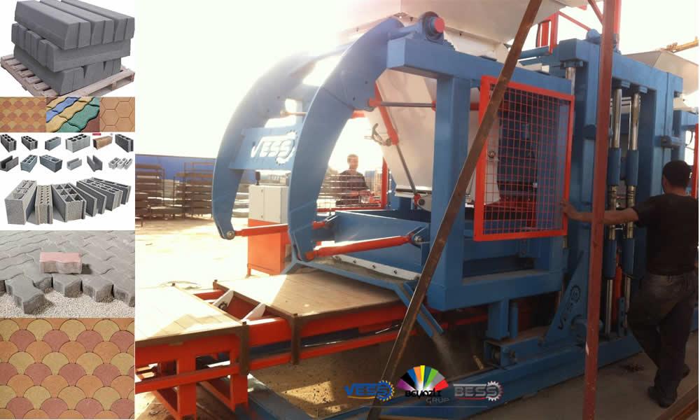 Pave Machine Parpaing Brique Pondeuse Pavé Occasion Prix Semi-Automatique Manuelle