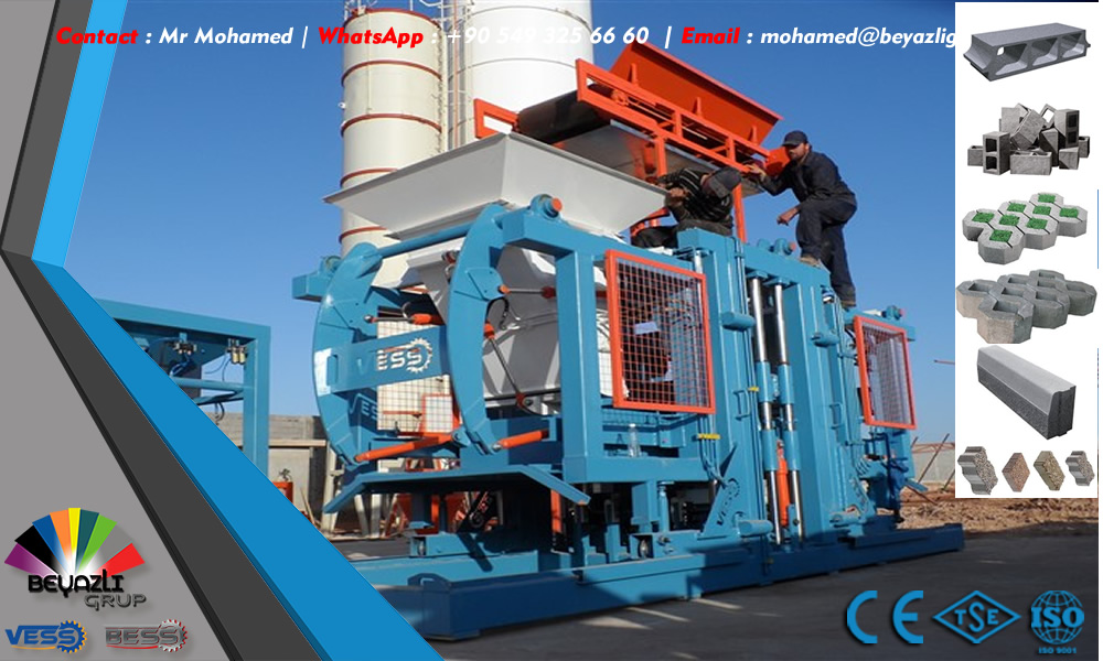 Machine a parpaing Turquie, Machine a Parpaing, Fabrication Machine a Parpaing, Machine a Parpaing Occasion, Machine Pondeuse de Parpaing, Prix Machine a Parpaing, Garantie de la machine a parpaing (2 ans)